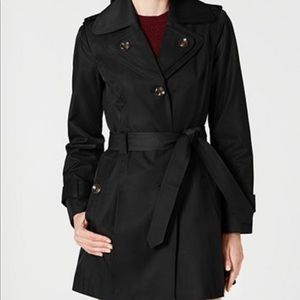 London Fog Belted Hooded Trench Coat